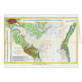 1857 Coast Survey Map or Chart of Patapsco RIver Card