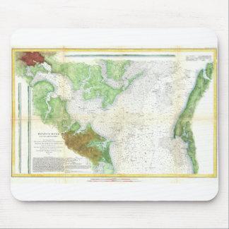 1857 Coast Survey Map or Chart of Patapsco RIver Mouse Pad