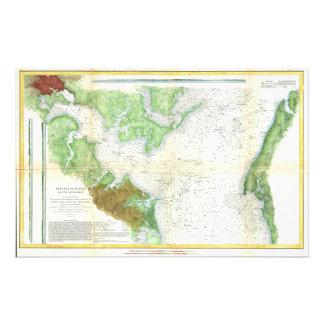1857 Coast Survey Map or Chart of Patapsco RIver Stationery