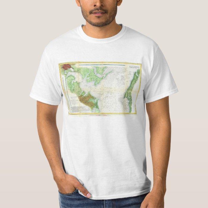 1857 Coast Survey Map or Chart of Patapsco RIver T-Shirt