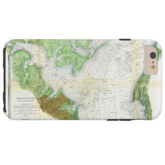 1857 Coast Survey Map or Chart of Patapsco RIver Tough iPhone 6 Plus Case