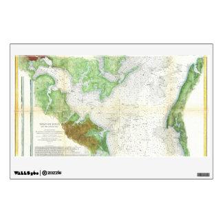 1857 Coast Survey Map or Chart of Patapsco RIver Wall Sticker