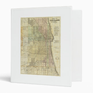 1857 Map of Chicago Illinois 3 Ring Binder