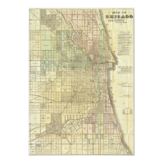 1857 Map of Chicago Illinois Card