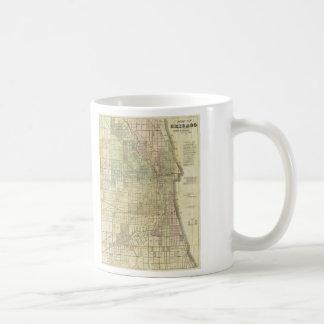 1857 Map of Chicago Illinois Coffee Mug