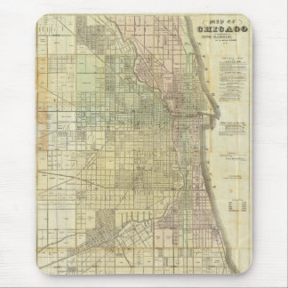1857 Map of Chicago Illinois Mouse Pad