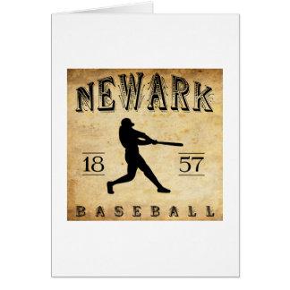 1857 Newark New Jersey Baseball Card