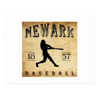 1857 Newark New Jersey Baseball Postcard