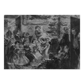 1858: A family round the Christmas tree Poster