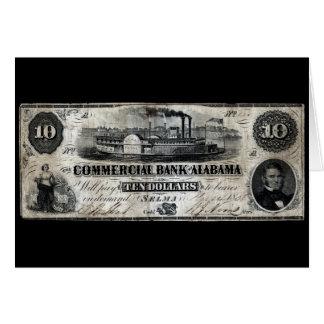 1858 Alabama Ten Dollar Note Greeting Card