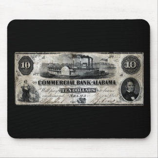 1858 Alabama Ten Dollar Note Mouse Pad