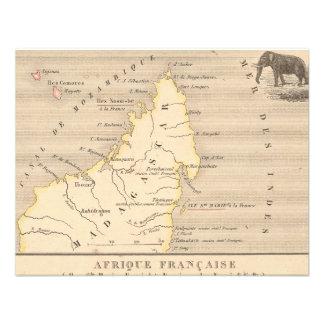 1858 Map Afrique Francaise Iles Ste Marie France Announcements