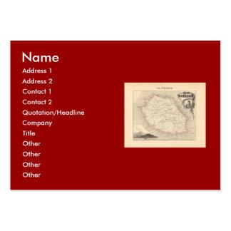1858 Map - Ile Bourbon La Reunion - France Business Cards