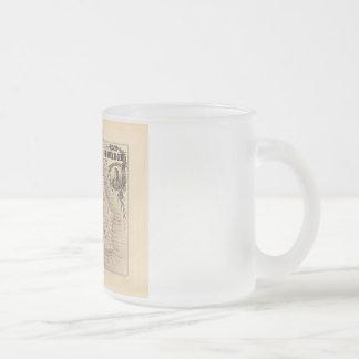 1858 Map - Ile Bourbon (La Reunion) - France Frosted Glass Coffee Mug