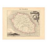 1858 Map - Ile Bourbon (La Reunion) - France Post Card