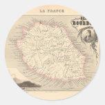 1858 Map - Ile Bourbon (La Reunion) - France Stickers