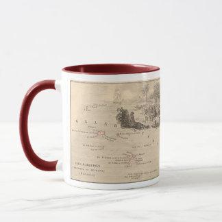 1858 Map Iles Marquises, France (Marquesas Island) Mug