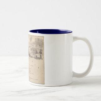 1858 Map Iles Marquises, France (Marquesas Island) Two-Tone Coffee Mug