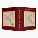 1858 Map: Itineraire des Omnibus dans Paris France Vinyl Binders