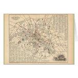 1858 Map: Itineraire des Omnibus dans Paris France Card