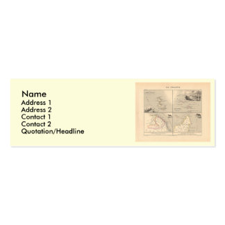 1858 Map La France Colonies, French Colonial Map Mini Business Card