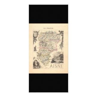 1858 Map of Aisne Department, France Custom Rack Card