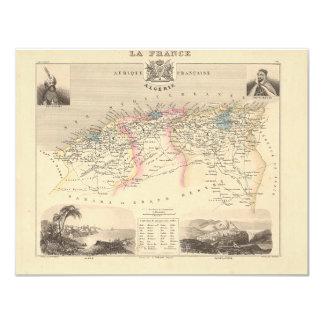 1858 Map of Algerie Department, France - Algeria 4.25x5.5 Paper Invitation Card