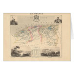 1858 Map of Algerie Department, France - Algeria Card