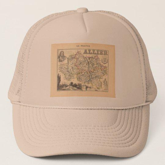 1858 Map of Allier Department, France Trucker Hat