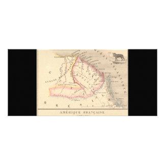 1858 Map of Amerique Francaise (Guyane), Guyana Rack Card