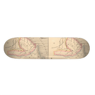 1858 Map of Amerique Francaise (Guyane), Guyana Skateboard Deck