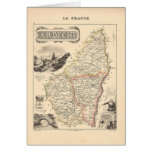 1858 Map of Ardeche Department, France Card