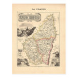 1858 Map of Ardeche Department, France Postcards