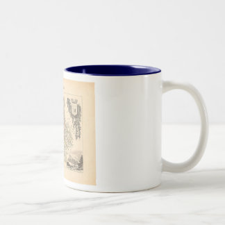 1858 Map of Ardennes Department, France Two-Tone Coffee Mug