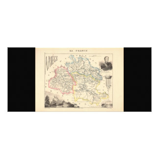 1858 Map of Ariege Department, France Rack Cards