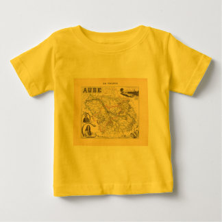 1858 Map of Aube Department, France Shirts