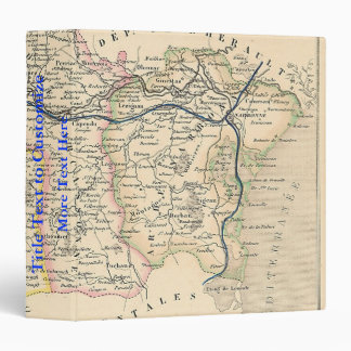 1858 Map of Aude Department, France Binder