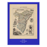 1858 Map of Bas Rhin Department, France Print