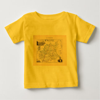 1858 Map of Basses Alpes Department, France Baby T-Shirt
