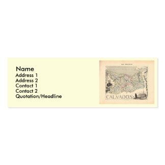 1858 Map of Calvados Department, France Business Card Template