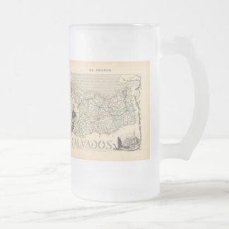1858 Map of Calvados Department, France Coffee Mug