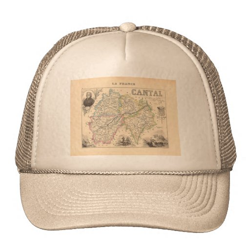 1858 Map of Cantal Department, France Trucker Hat