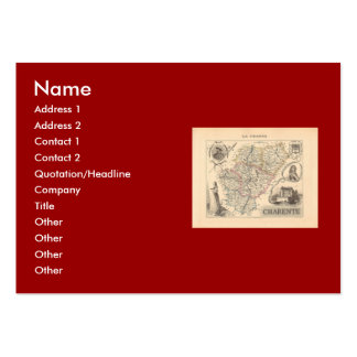 1858 Map of Charente Department France Business Card