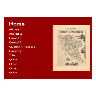 1858 Map of Charente Inferieure Department France Business Card