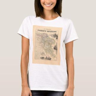 1858 Map of Charente Inferieure Department, France T-Shirt