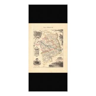 1858 Map of Cher Department, France Custom Rack Cards