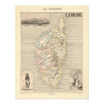 1858 Map of Corse Department, Corsica, France Personalized Invites