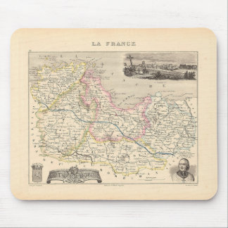 1858 Map of Cotes du Nord Department, France Mouse Pad