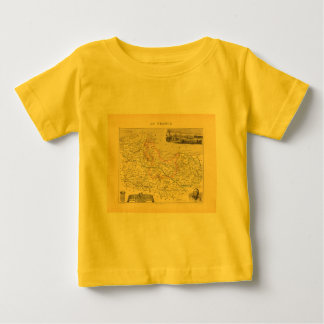 1858 Map of Cotes du Nord Department, France Tee Shirts