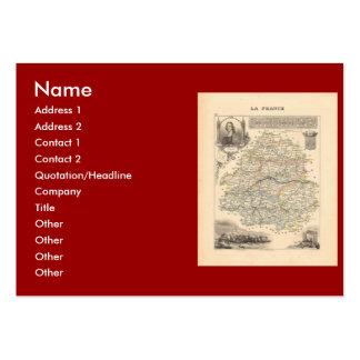 1858 Map of Dordogne Department France Business Cards